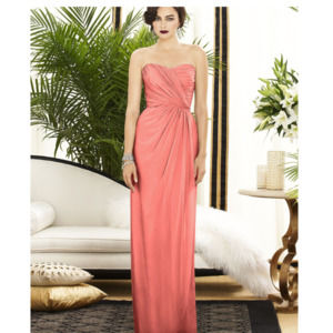 Dessy Collection Strapless Draped Maxi Dress 8
